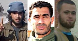 Left to right: al-Jabouri, Alghanem, al-Masri. Images courtesy of @sayed_ridha, @ArmyYarmouk