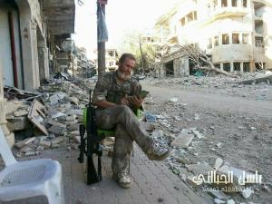 An opposition fighter in Zabadani during the ceasefire. Image courtesy of @SyriaDirect.