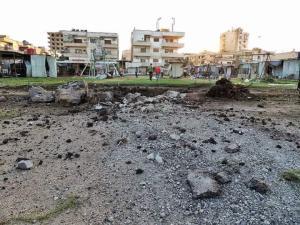 Damage in al-Waer Neighborhood, northwest Homs. Image courtesy of @zaidbenjamin.