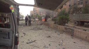 221115 @DoumaRevolution Aftermath of SAA shelling and surface-to-surface rockets in Duma.jpg