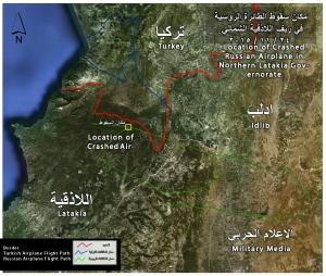 241115 @MilitaryMediaSy RuAF flight path and location of crash