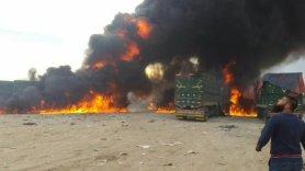 251115 @تنسيقية مدينة سلقين RuAF airstrikes against trucks on the Turkish border carrying weapons into Syria.jpg