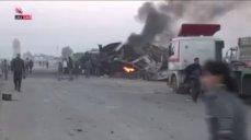 271115 @miladvisor RuAF airstrikes against trucks in northern Aleppo Gov