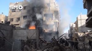 241215 @الهيئة السورية للاعلام Aftermath of RuAF airstrikes on Hamouriyah