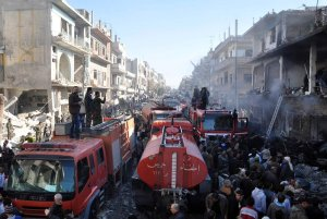 281215 @arabthomness aftermath of Homs triple suicide attacks