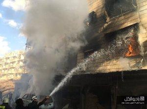 250116 @راديو الكل aftermath of explosions in Sukkari neighborhood, Aleppo