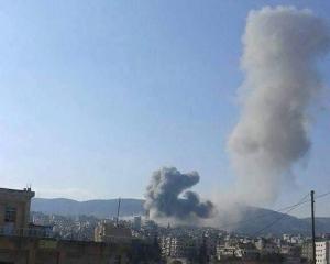 280216 @sayed_ridha RuAF airstrikes on Jisr ash-Shugur