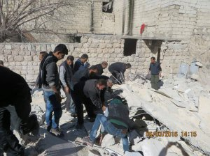 060316 @arabthomness Rescue operations in Sheikh Maqsoud