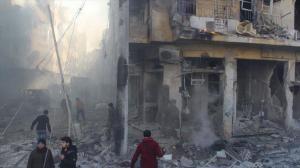 080316 @DorarTV Aftermath of airstrikes in Abu a-Dohor