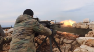110316 @Eyad al-Hosain youtube SAA soldier firing on opposition locations in Latakia battlefront
