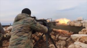 110316 @Eyad al-Hosain youtube SAA soldier firing on opposition locations in Latakia battlefront