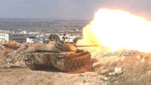 200316 @MilitaryMediaSy SAA tank firing on IS forces during Kafar Sakeer battles