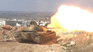 200316 @MilitaryMediaSy SAA tank firing on IS forces during Kafar Sakeer battles